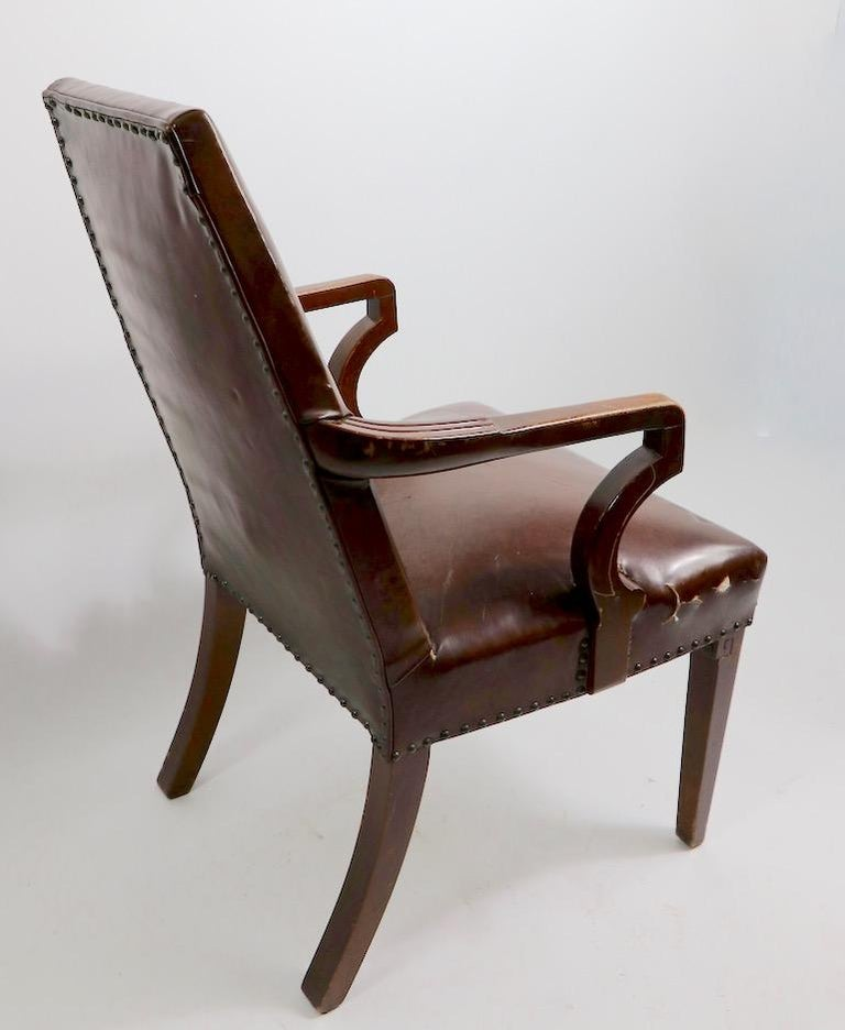 High Back Art Deco Chair For Sale 8