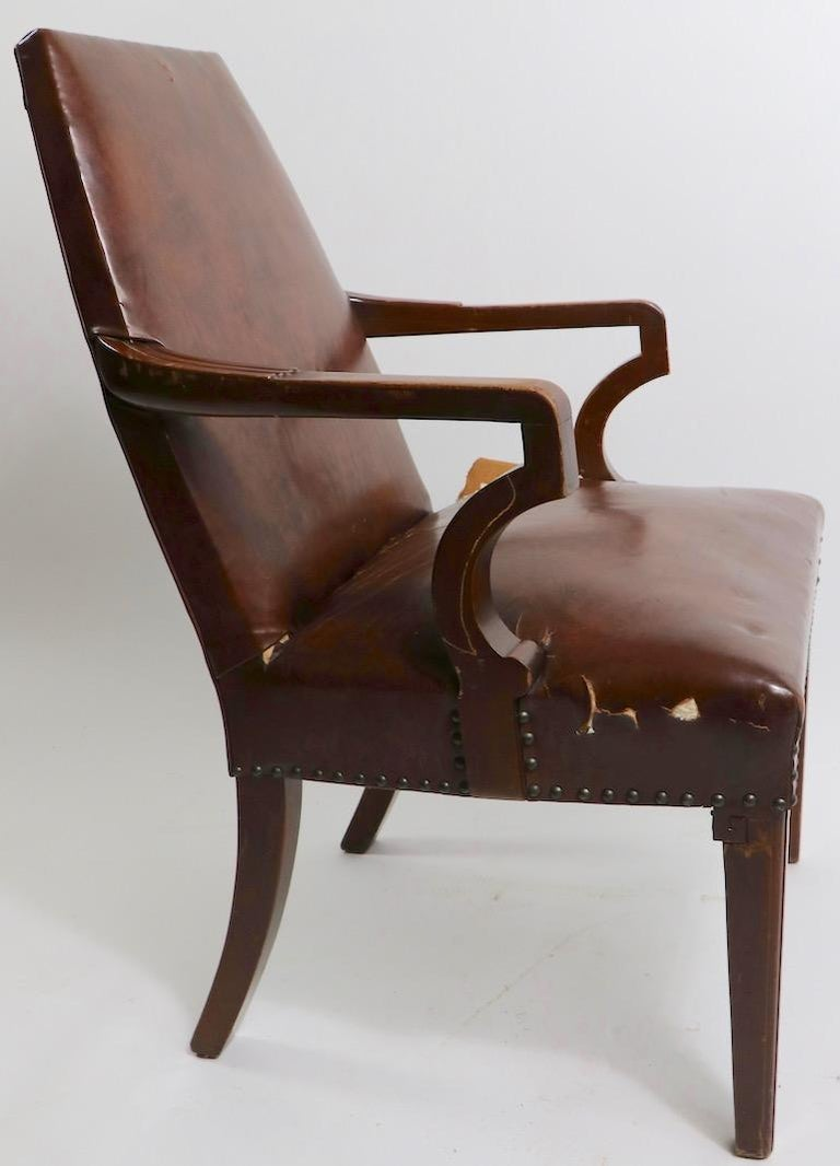 High Back Art Deco Chair For Sale 9