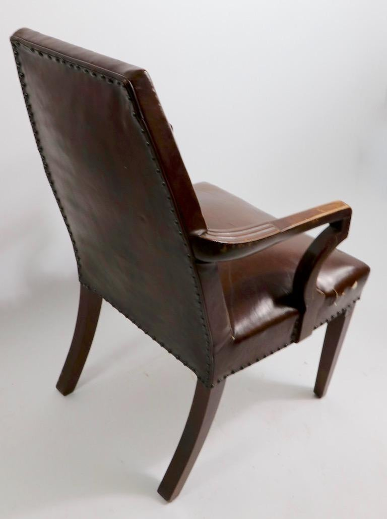 High Back Art Deco Chair For Sale 10