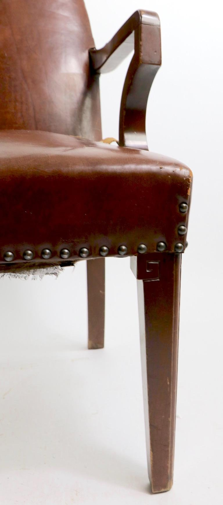 20th Century High Back Art Deco Chair For Sale