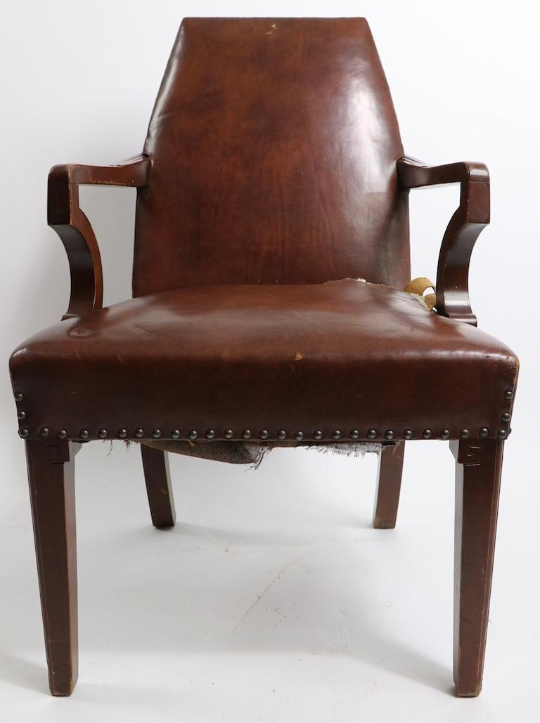 High Back Art Deco Chair For Sale 1