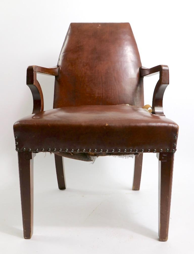 High Back Art Deco Chair For Sale 2