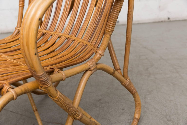 High Back Bamboo Armchair For Sale 5