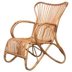 High Back Bamboo Lounge Chair
