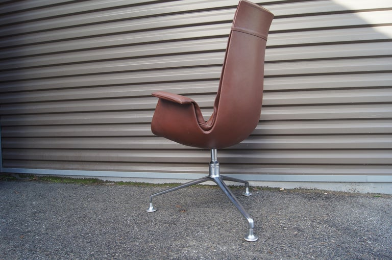 Scandinavian Modern High-Back Bird Chair by Preben Fabricius and Jørgen Kastholm for Alfred Kill For Sale