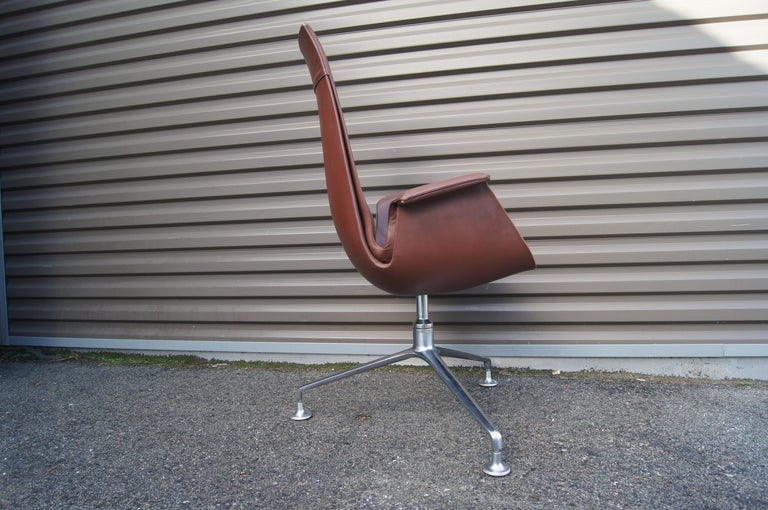 Danish High-Back Bird Chair by Preben Fabricius and Jørgen Kastholm for Alfred Kill For Sale
