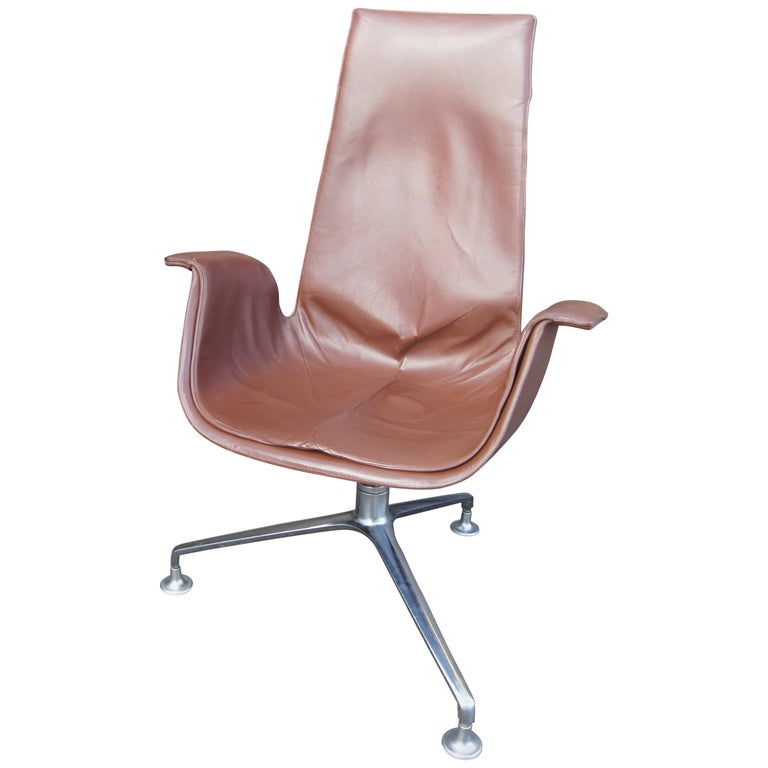 High-Back Bird Chair by Preben Fabricius and Jørgen Kastholm for Alfred Kill For Sale