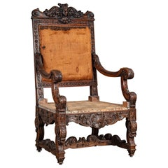 High Back Chair with Caryatid Head