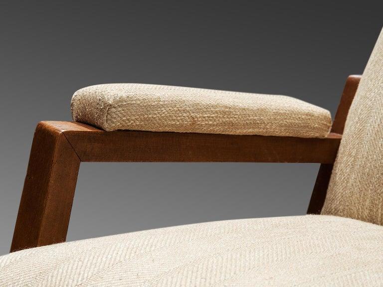 High Back Italian Armchair, circa 1950 For Sale 1