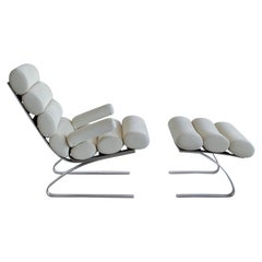 High Back Lounge Chair and Foot Stool by COR, 1976