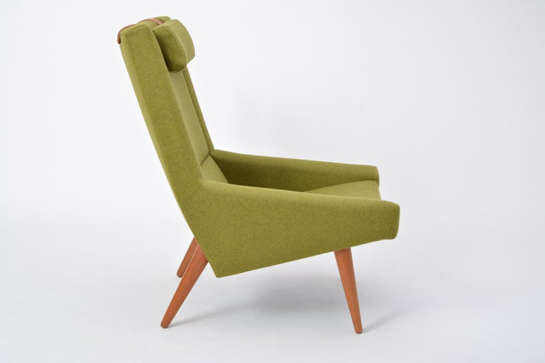 High Back Lounge Chair by Illum Wikkelsø for Soren Willadsen, 1960s In Excellent Condition For Sale In Berlin, DE