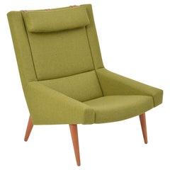 Green Mid-Century Modern lounge Chair by Illum Wikkelsø for Soren Willadsen