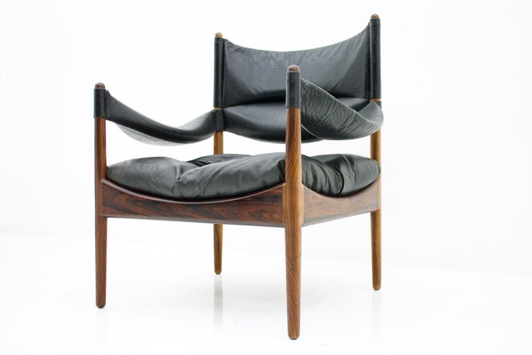 High Back Lounge Chairs by Kristian Solmer Vedel Made by Søren Willadsen, 1963 For Sale 3