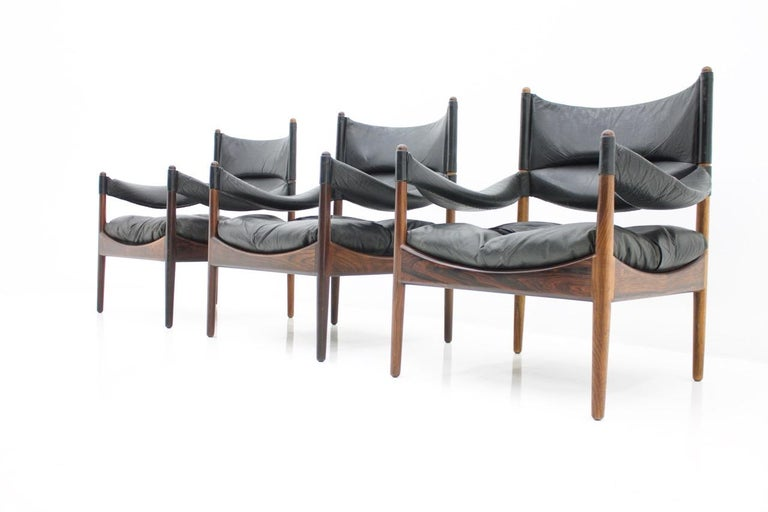 High back easy chair by Kristian Solmer Vedel made by Søren Willadsen, Denmark ,1963. Three chairs are available Very good condition.