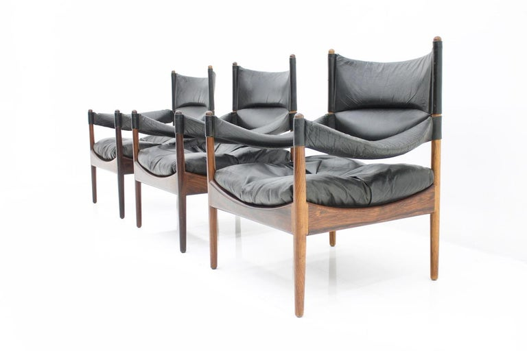 Scandinavian Modern High Back Lounge Chairs by Kristian Solmer Vedel Made by Søren Willadsen, 1963 For Sale