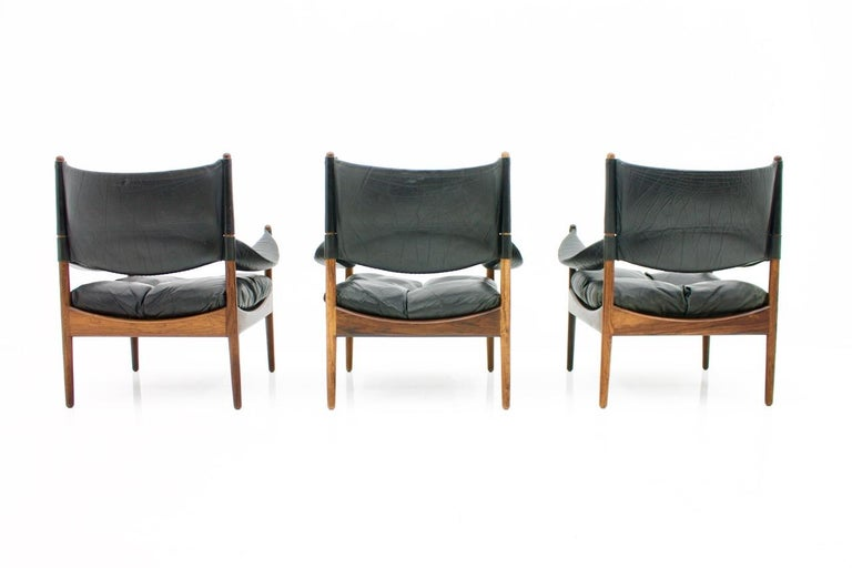 High Back Lounge Chairs by Kristian Solmer Vedel Made by Søren Willadsen, 1963 For Sale 1