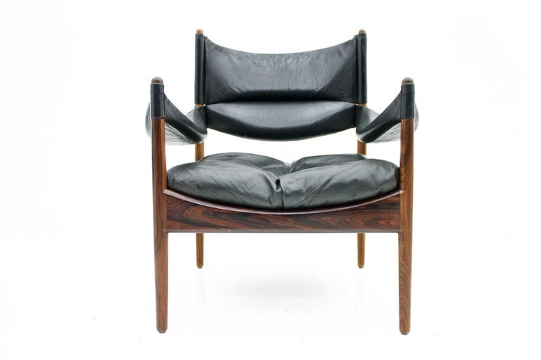 High Back Lounge Chairs by Kristian Solmer Vedel Made by Søren Willadsen, 1963 For Sale 2
