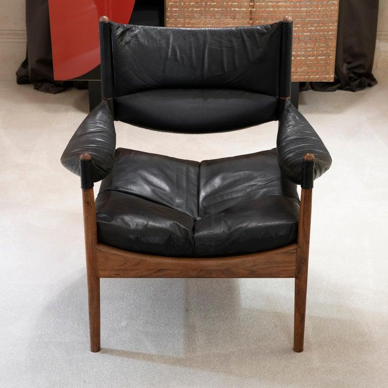 Scandinavian Modern High Back Lounge Chairs by Kristian Vedel Made by Søren Willadsen, 1963