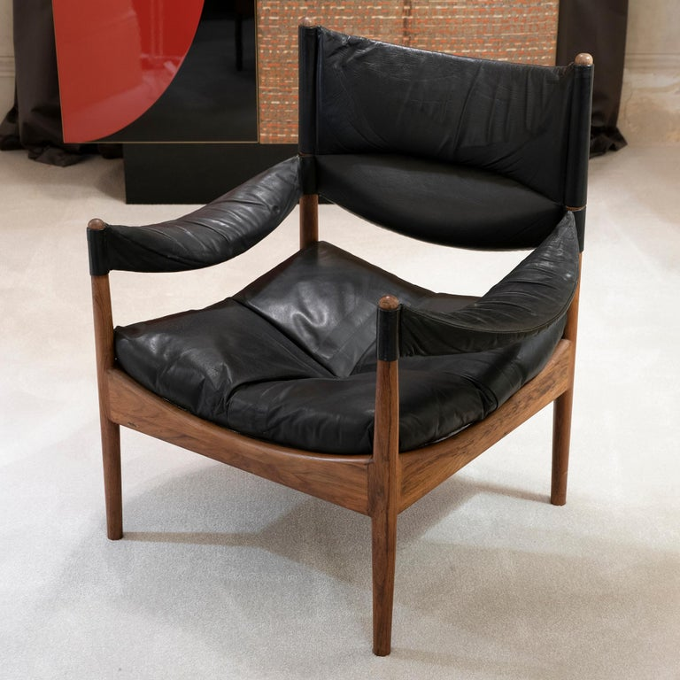 Danish High Back Lounge Chairs by Kristian Vedel Made by Søren Willadsen, 1963