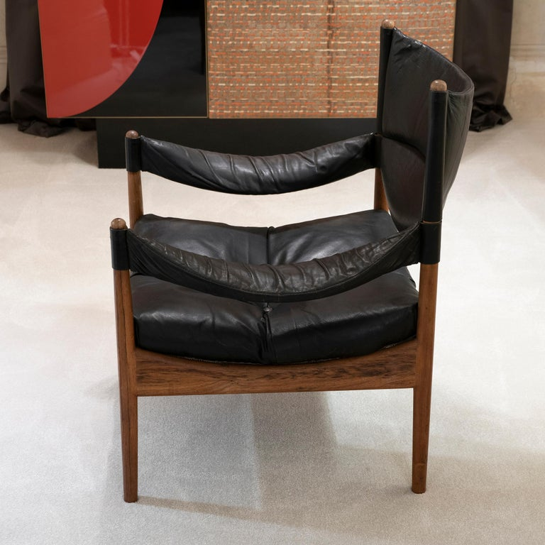 High Back Lounge Chairs by Kristian Vedel Made by Søren Willadsen, 1963 In Good Condition In Firenze, IT