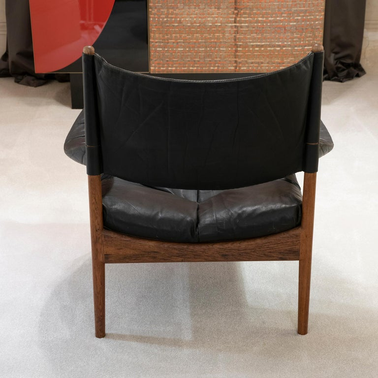 Mid-19th Century High Back Lounge Chairs by Kristian Vedel Made by Søren Willadsen, 1963