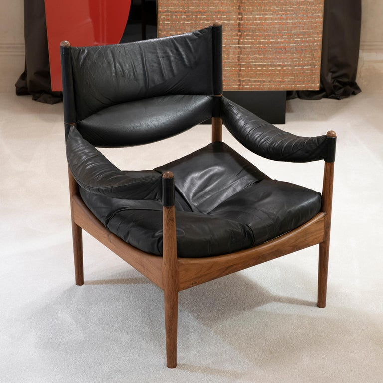 High Back Lounge Chairs by Kristian Vedel Made by Søren Willadsen, 1963 1