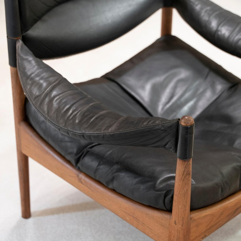 High Back Lounge Chairs by Kristian Vedel Made by Søren Willadsen, 1963 2