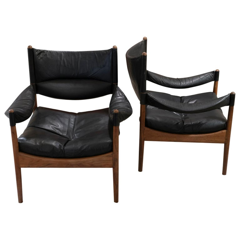 High Back Lounge Chairs by Kristian Vedel Made by Søren Willadsen, 1963