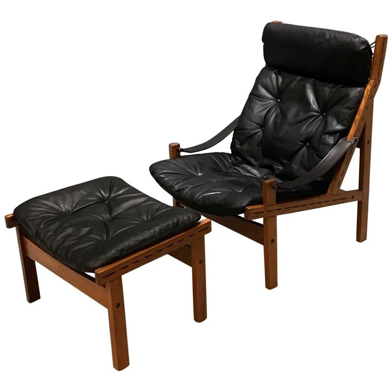 Cool High Back Mid Century Danish Leather Chair Hunter Chair By Torbjorn Afdal Short Links Chair Design For Home Short Linksinfo