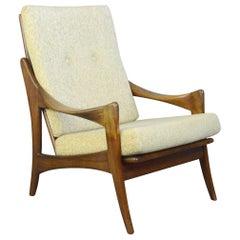High Back Midcentury Lounge Chair by Gelderland, circa 1950s