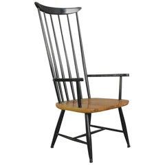 High Back Midcentury Chair by Ilmari Tapiovaara, circa 1960s