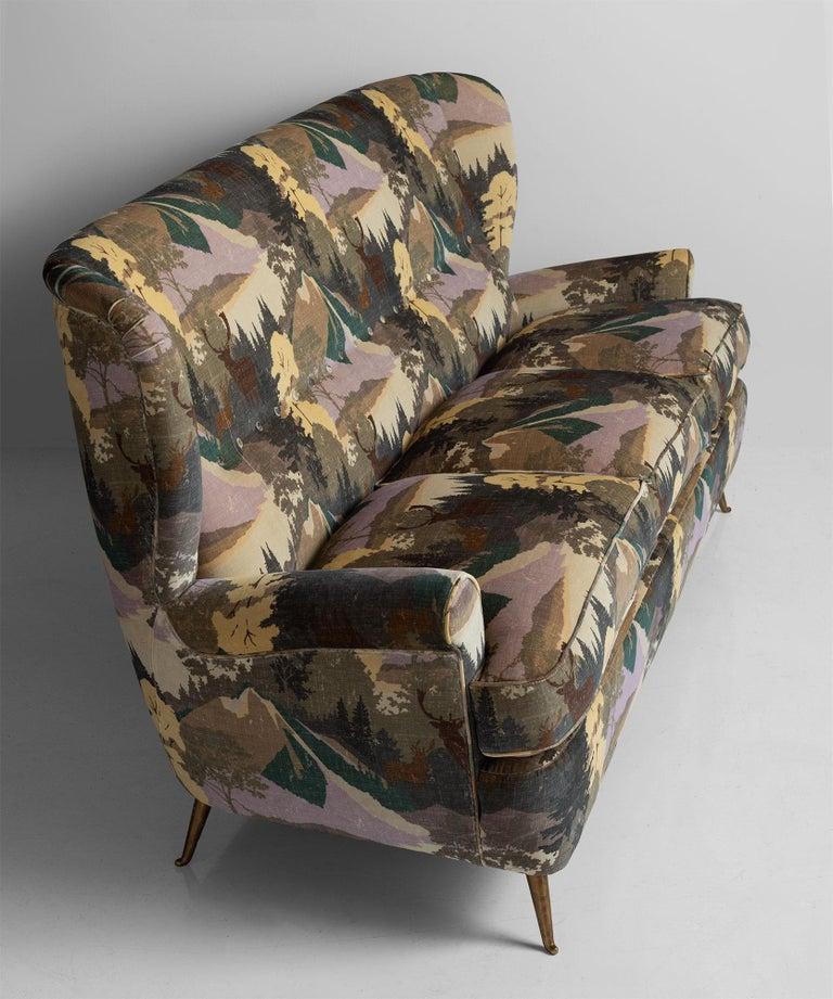 Mid-20th Century High Back Modern Sofa For Sale