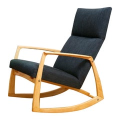 High-Back Rocking Chair Rocker by Hans Wegner, 1960s