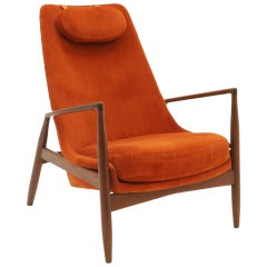 High Back Seal or Sälen Lounge Chair by Kofod-Larsen for OPE, Sweden, 1960.