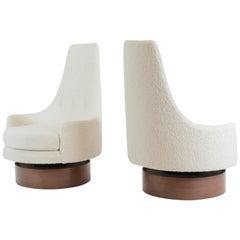 High Back Swivel Chairs, Adrian Pearsall