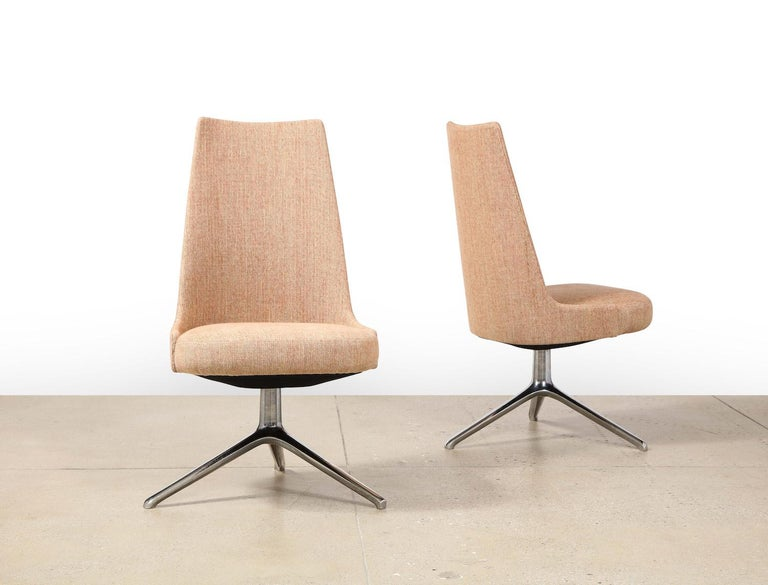 Italian High Back Swivel Chairs by Osvaldo Borsani & Valeria Fantoni For Sale