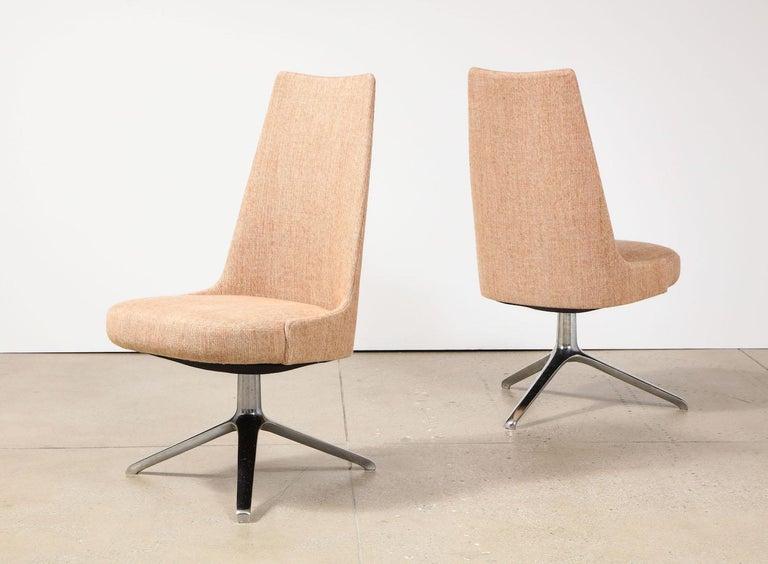 20th Century High Back Swivel Chairs by Osvaldo Borsani & Valeria Fantoni For Sale