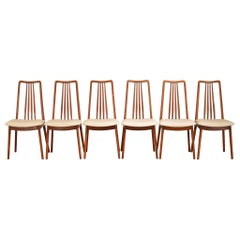 Danish High Back Teak Dining Chairs by Anders Jensen for Holstebro