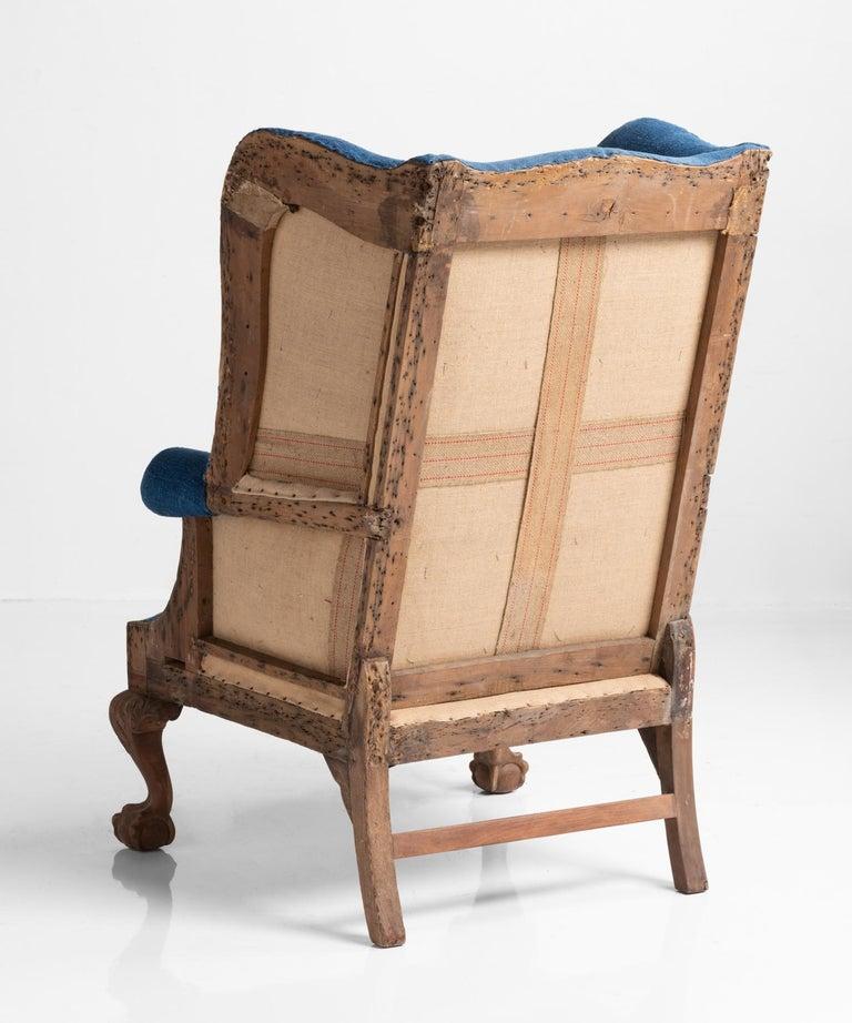 High Back Winged Armchair England Circa 1910 At 1stdibs