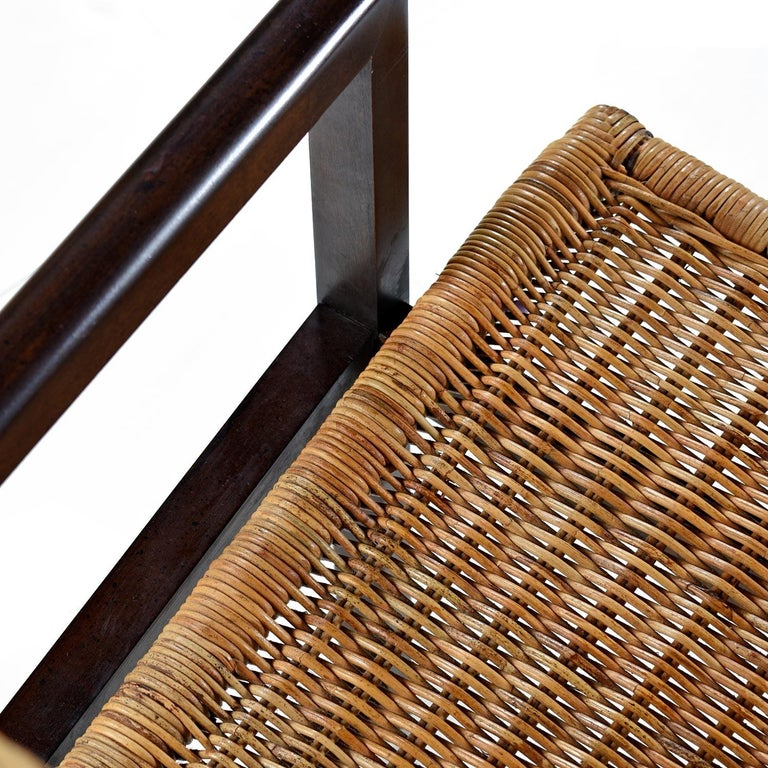 High Back Woven Rattan Dining Chairs by Century Furniture In Good Condition In Saint Petersburg, FL