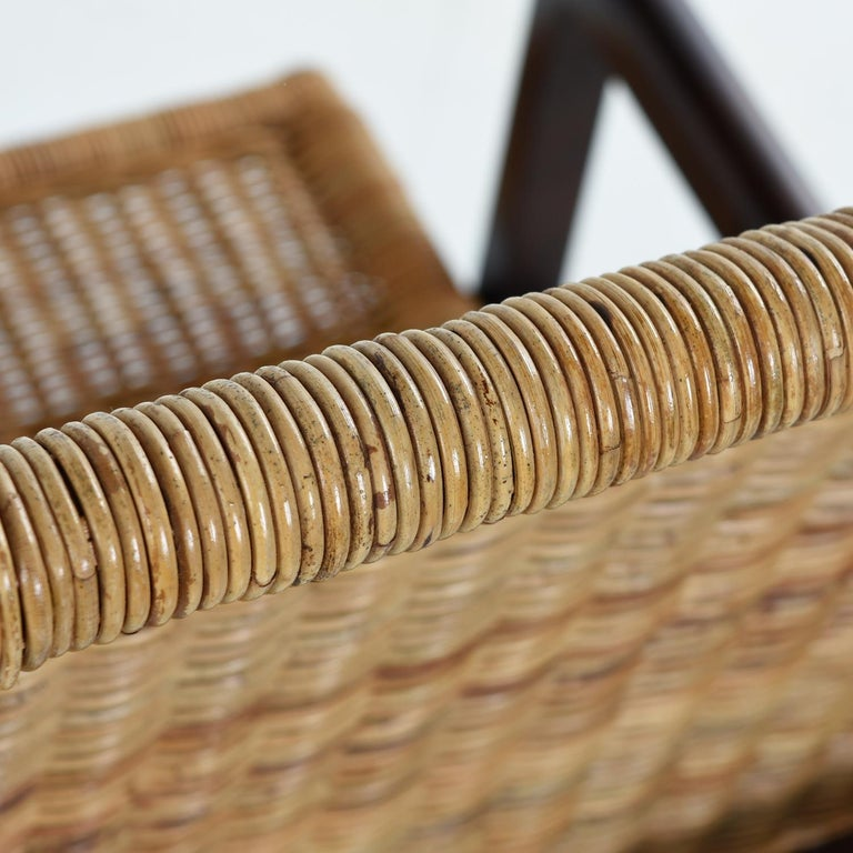 Late 20th Century High Back Woven Rattan Dining Chairs by Century Furniture