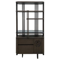 High Cabinet Shelf Interlock André Fu Living Brown Oak Stone Modern Storage New