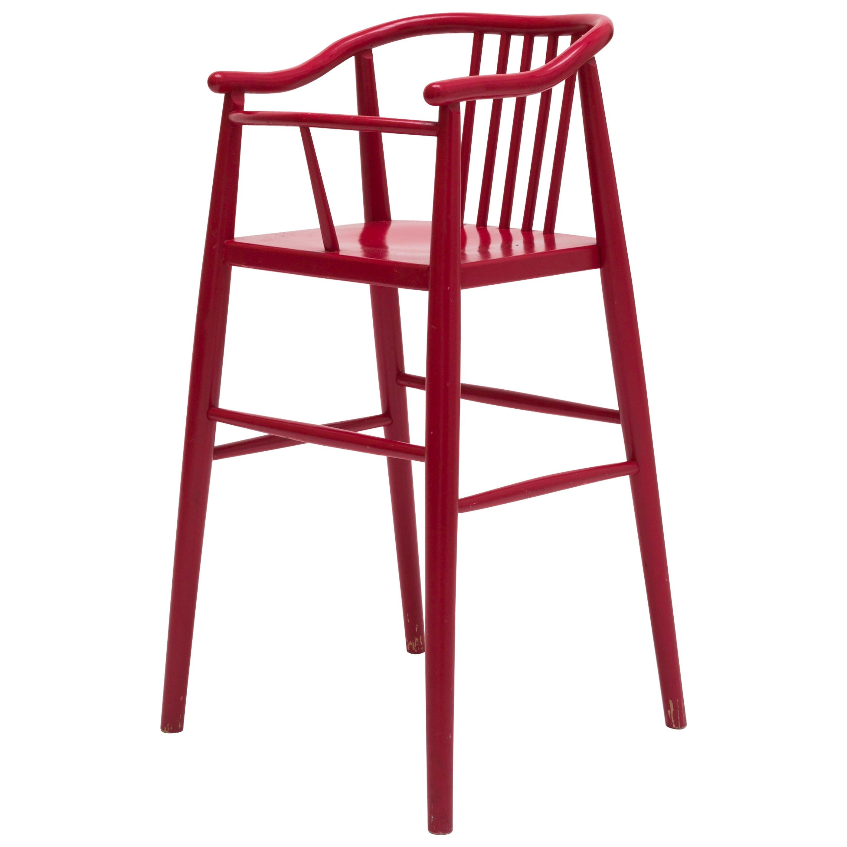 """High Childs Chair """"Peggy"""" by Karin Mobring for Ikea, Sweden, 1950s"""