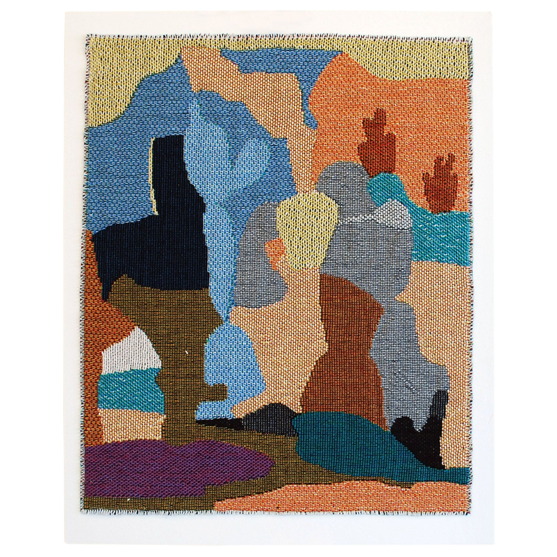 High Desert Landscape Woven Tapestry Wall Hanging Abstract Art