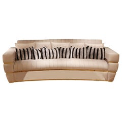 High End Contemporary Velvet Sofa, Signature