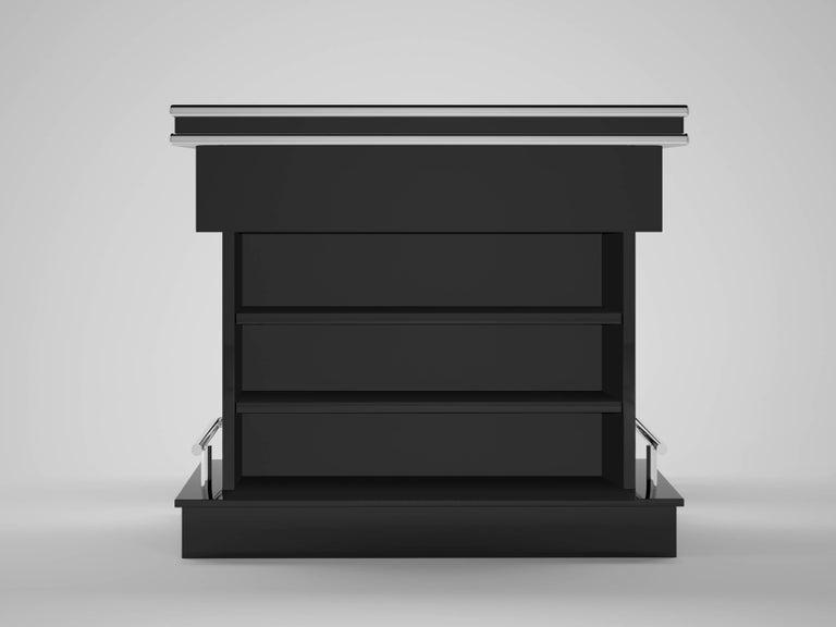 high end quadratische design bar mit hocker im angebot bei 1stdibs. Black Bedroom Furniture Sets. Home Design Ideas
