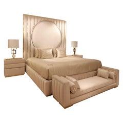 High End Velvet Modern Bed Set, Signature