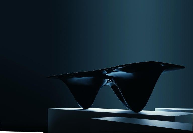 English High-Gloss Black Aqua Table by Zaha Hadid for Established & Sons For Sale