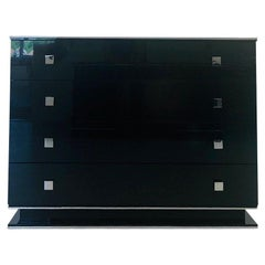 High Gloss Black Design Chest of Drawers