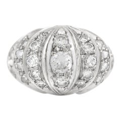 High Half Moon 14 Karat with Diamonds Ring